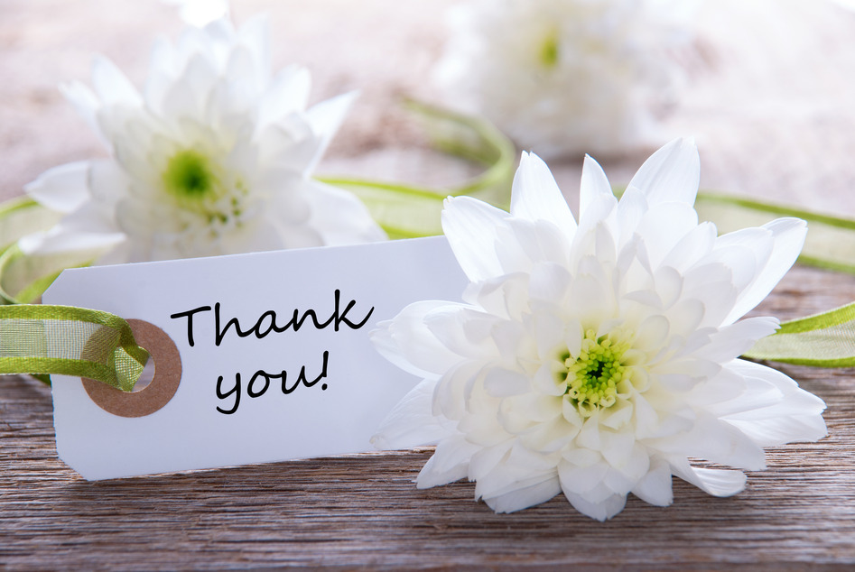 Label with Thank you